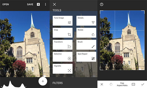aplicaciones de retoque fotos-android-Snapseed